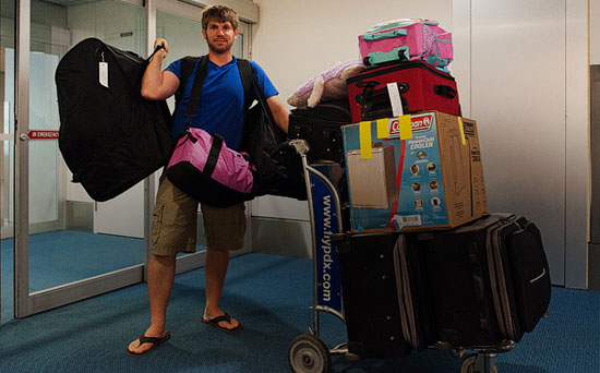 too much luggage send to hostelling international